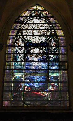 The Nativity Window, one of 11 Tiffany windows at Brown Memorial Presbyterian Church, Baltimore, MD