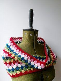 Crochet Granny Crochet Cowl - Tutorial