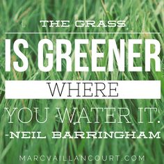 "Monday morning inspiration: ""The grass is greener where you water it."" ~ Neil Barringham Be well and make it a great week! Marc Vaillancourt @convohubguy Never miss a post – click…"