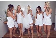 Bridal party play suits