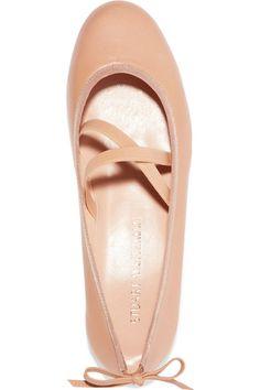 Stuart Weitzman - Bolshoi Leather Ballet Flats - Beige - IT37.5