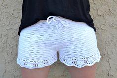 Edgy Crochet Shorts