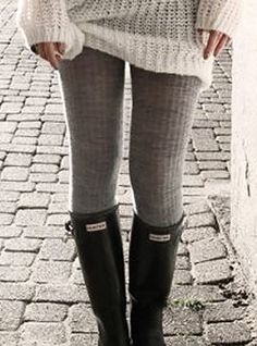 cozy sweater + sweater leggings + boots