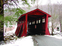 Sleepy Hollow Covered Bridge in Foscoe, North Carolina. @Teresa Wrenn - this bridge was actually in the top 10 or 20 bridges in the US.  Would make for an awesome photo shoot...