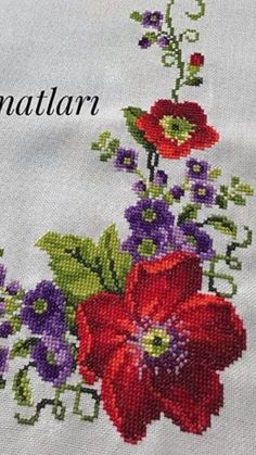 Embroidery, Herb, Cross Stitch Embroidery, Roses, Health, Manualidades, Crosses, Seed Stitch, Needlepoint