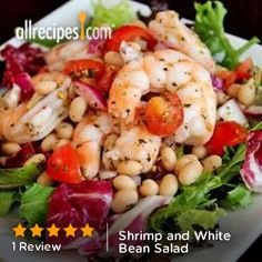 Shrimp and White Bean Salad from Allrecipes.com #myplate #protein