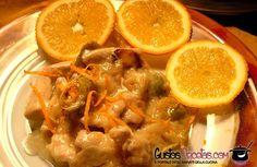 Deliziosi bocconcini di manzo al profumo d'arancia.