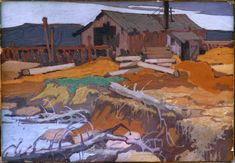 Tom Thomson Canadian Painters, Canadian Artists, Impressionist Landscape, Landscape Paintings, Emily Carr Paintings, Group Of Seven Paintings, Tom Thomson Paintings, Country Art, North Country