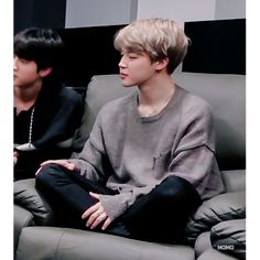 Jimin   BTS I sit like that all the time. It's so comfy