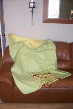Quilt that folds into a pillow for Janet