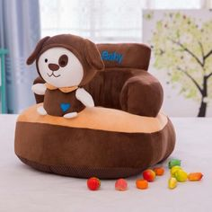 GeniusCells Baby Sofa Chair Stuffed Cartoon Animal DismountableToddler Sofa Protector Couch Bed Washable Infant Sitting Chairs for Supporting Seat Pillow Cushion Kid's Toys >>> Read more at the image link. (This is an affiliate link) Baby Sofa Chair, Couch, Toddler Armchair, Sofa Protector, Kids Bean Bags, Kids Sofa, Car Seat And Stroller, Stuffed Animal Storage, Toddler Furniture
