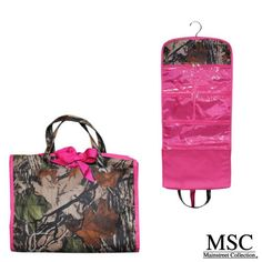 Amazon.com : Mainstreet Camo Camoflauge Hanging Toiltrees Bag Hot Pink Large Make-Up Cosmetic Travel Case : Jewelry Rolls : Beauty