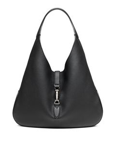 Jackie+Soft+Leather+Hobo+Bag,+Black+by+Gucci+at+Neiman+Marcus.