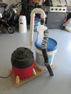 Basic Dust Deputy DIY Collection System - by kevinbradshaw @ LumberJocks.com ~ woodworking community