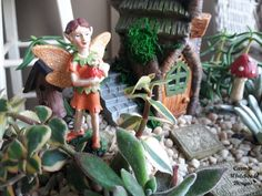 10 Fairy Gardens for Spring - Carmen Whitehead Designs Fairy Garden Furniture, Seasons Of The Year, Long Winter, Miniature Fairy Gardens, Fairy Houses, Lawn And Garden, Plant Hanger, Spring Time, Projects To Try