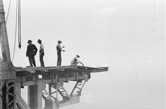 there with the riggers [Sydney Harbour Bridge construction], c. by Ted Hood -Up there with the riggers [Sydney Harbour Bridge construction], c. by Ted Hood - Disembarking South Steyne, Sydney, 1940 / attributed to De… Sydney Harbour Bridge, Harbor Bridge, Sydney City, Bridge Construction, Under Construction, Passion Photography, Arch Bridge, Drinking Fountain, A Moment In Time