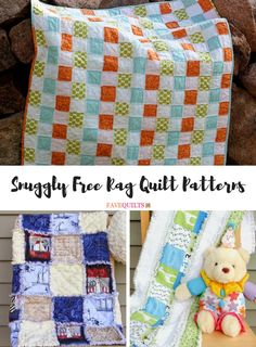Once you learn how to make rag quilts, you won& be able to stop! These frayed quilts are so easy to make, you& get addicted to rag quilting. Check out our list of Snuggly Free Rag Quilt Patterns to get new rag quilt ideas! Flannel Rag Quilts, Baby Flannel, Rag Quilt Patterns, Sewing Patterns, Fall Quilts, Quilting Projects, Quilting Ideas, Sewing Projects, Square Quilt
