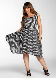 202a7f6e2ee Ashley Stewart  Sleeveless Striped Dress