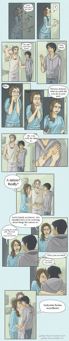 PERFECT!!<---WHAT NO PERCY LOSES HIS ARM IN THIS AND SALLY DOESNT EVEN CARE SHES HIS mOThER SHE SHOULD CARE AND BE WORRIED ABOUT HIS ARM- anybody notice that the tattoo is SPQR?