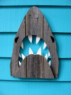 Shark art made of recycled fence wood. JAWS Great by JohnBirdsong