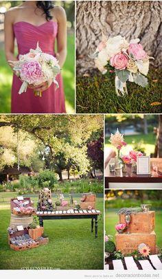 Ideas decoración de boda vintage en jardín