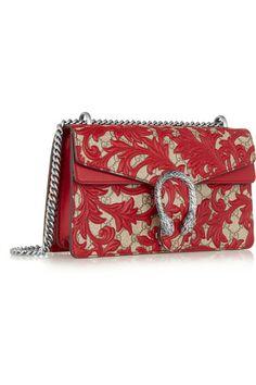 Gucci - Sac porté épaule en toile enduite à appliqués en cuir Dionysus Small fcc987d4485b