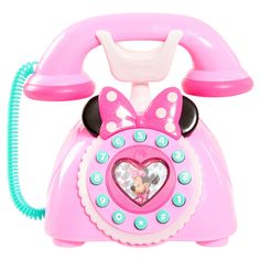 Kids will adore playing with this Disney's Minnie Mouse Minnie's Happy Helpers Phone that is just like the one Minnie Mouse uses on the Disney Junior's show! Toys For Girls, Kids Toys, Minnie Mouse Toys, Minnie Mouse Playhouse, Princess Toys, Baby Alive, Electronic Toys, Top Toys, Disney Junior