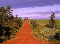 Rural Road Near Hunter River Prince Edward Island, Canada (1828R-2451 ...