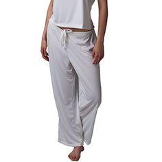 Keep warm throughout the season! Wicking Pajama Pants- White | Slumbersome
