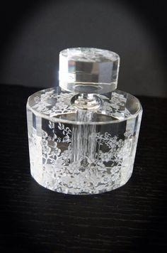 Sensation galore, crystal perfume bottle hand engraved on Etsy, $155.00