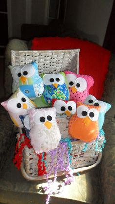 Plush Owls  Lot Of Very Cute 7x6 Owls  Lot of 8 for Parties Favors or Resale. $54.00, via Etsy.