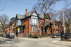 Ontario St. & Aberdeen Ave, Cabbagetown Toronto Toronto Houses, Modern Log Cabins, Historic Architecture, Basement Apartment, Aberdeen, Cityscapes, Niagara Falls, Montreal, Ontario