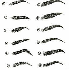 Eyebrow Types