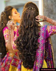 Bridal Hairstyle Indian Wedding, Bridal Hair Buns, Bridal Hairdo, Indian Bridal Hairstyles, Indian Bride Hair, Indian Long Hair Braid, Saree Hairstyles, Open Hairstyles, Trending Hairstyles