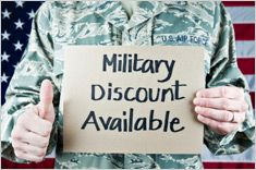133 places offering military discounts.