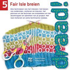 Draad! 5 Fair Isle breien is nu verkrijgbaar! - Wol & Co Fair Isle Knitting, Knit Crochet, Embroidery, Cover, Crocheting, Mini, Tricot, Accessories, Breien