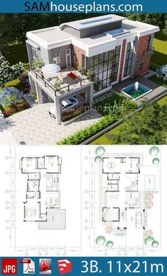 Sims House Plans, House Layout Plans, Dream House Plans, Modern House Plans, House Layouts, House Floor Plans, Cool House Plans, Villa Plan, House Plans With Photos