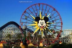 Mickey's Fun Wheel at #Disney #California Adventure Park https://ExploreTraveler.com