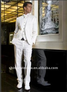 Handsome-White-Notch-Lapel-Single-breasted-One-button-Men-Suits-D67016.jpg (382×524)