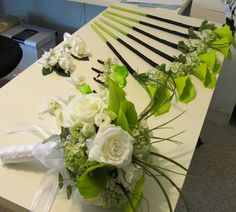 Bridesmaid single stem calla lily bouquet in by MyFavorsandFlowers, $20.50