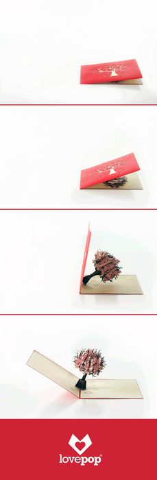 lovepop's cherry blossom pop up card. Paper art?  Greeting card? Unexpected. Every time.   http://lovepopcards.com/shop/?orderby=popularity&utm_source=Pinterest&utm_medium=4P