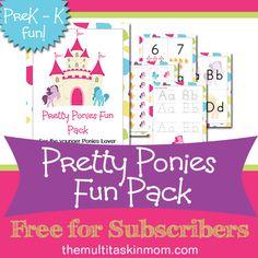Pretty Ponies Fun Pack PreK-K Fun