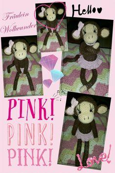 Affe * chimpanse * Mädchen * monkey * girl * gehäkelt * crochet  https://www.facebook.com/fraeuleinwollwunder