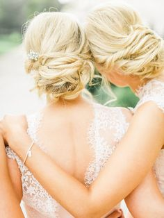 """Love the laceee on these bridesmaids dresses!!  Image by <a href=""""http://belleandbeaublog.com"""" target=""""_blank"""">Belle and Beau Photography</a>"""