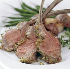 HERB-CRUSTED RACK OF LAMB   http://www.finecooking.com/recipes/herb-crusted-rack-of-lamb.aspx