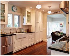 Kitchen cabinets with feet from Houzz