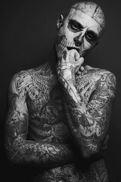 Rick Genest - Living, breathing work of art. Yes, those are real tattoos.
