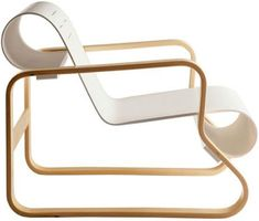 """paimio armchair 41  Design Alvar Aalto, 1931  Bent birch plywood  Made in Finland by Artek    """"Objects are made to be completed by the human mind."""" -Alvar Aalto"""