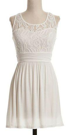 Adorable White Dress#lace #racerback