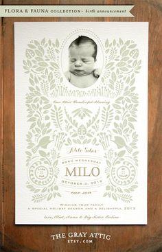 Birth Announcement | The Gray Attic
